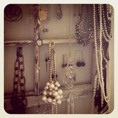 im buying this tomorrow!!!!  'Jewelry Window' created by Annie Wilson   #rustic #vintage #window #home #decor