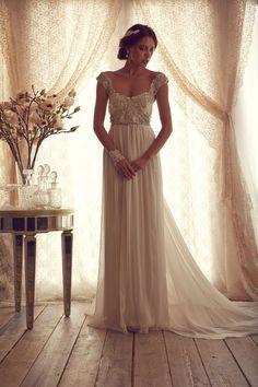 wedding dressses, vintage weddings, dream, anna campbel, chiffon wedding dresses