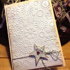 Simple Christmas card holiday card, christmassi stuff, christma card, christmas cards, card idea, simpl christma, craft idea, card creation, card star