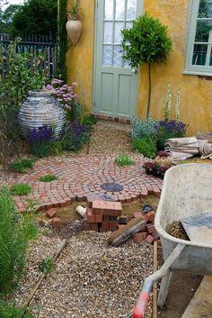 building a brick patio