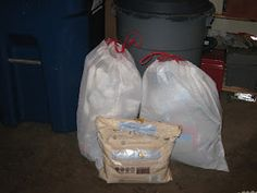 This is our garbage for a month, see how making a small change saves me $13.73 per month/$164.76 per year.