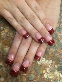 Crystal Gel Acrylic Nails