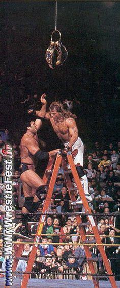 Shawn Michaels vs. Scott Hall.