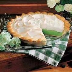 Shamrock Pie Recipe from Taste of Home