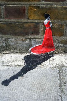 Miniature Street Art by Pablo Delgardo, London, UK.