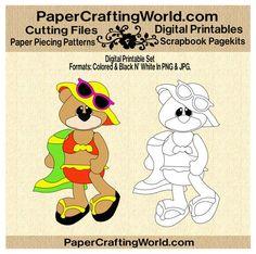 Bear in Bikini Digital Printable. Direct Link: http://www.papercraftingworld.com/item_860/Bear-in-Bikini-DS.htm