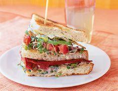 vegetarian club sandwiches