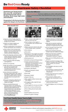 Hurricane Checklist ARC  #Hurricane Preparedness    #LDSemergencyresources #MormonLink
