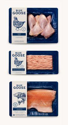Blue Goose Pure Foods by Flavio Carvalho, via Behance