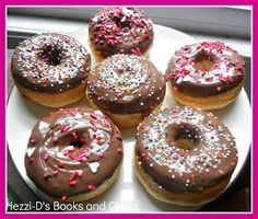Baked cake donuts with chocolate glaze