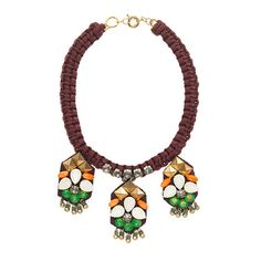 studs, embroid necklac, jewelry necklaces, statement necklaces, style, stone embroid, jewelri inspir, jcrew, stones