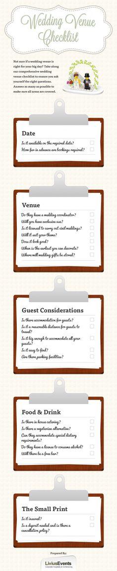 futur, stuff, plan, weddings, venue questions, answer question, venu checklist, wedding venue checklist, checklist infograph