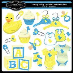 party favors, clip art, clipart element, baby shower clipart, collect clipart, ducki babi, babi shower, baby shower cards, baby showers