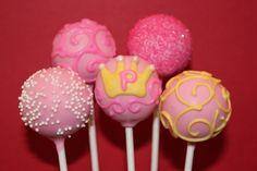 Pink Princess cake pops