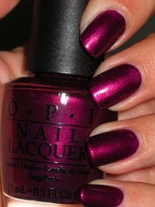 OMG getting this. This reminds me of their Black Cherry Chutney only lighter, it's gorgeous! I've seen this colour around but its amazing - sometimes you need to see it in another light. J'adore! OPI Diva of Geneva.