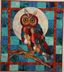 Hoot, An Animal Quilt Pattern by Barbara J. Jones of bj designs and patterns.