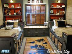 twin boys room