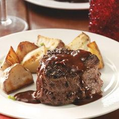 Steak au Poivre for 2 Recipe from Taste of Home -- shared by Crystal Bruns of Iliff, Colorado