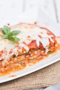 Use up that Zucchini from your garden for this delicious Zucchini Lasagna