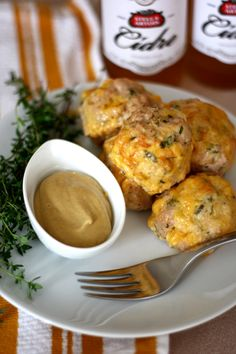 Recipe Pairing: Herbed Turkey Cheddar Meatballs and Hard Apple Cidre - perfect for game day or a tailgate!