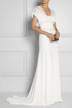 Temperley London Willow floral-appliquéd embellished silk gown NET-A-PORTER.COM