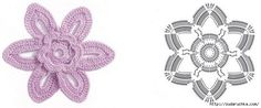 crochet flowers, flore tejida, flore de