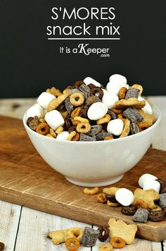 S'mores Snack Mix - use gf cereal and gf annie's bunnies