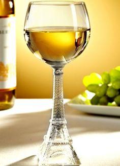 Vintage Eiffel Tower Wine Glass