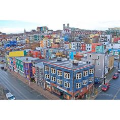 A Rainy Day in the City of 10,000 colors. St. John's Newfoundland.