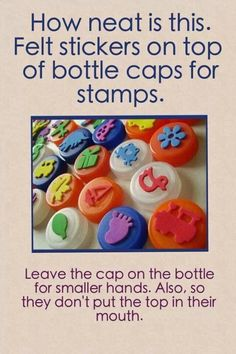 Homemade stamps @Cathy Ma Gardner we have those christmas foam sitckers!!! this has to happen!!!