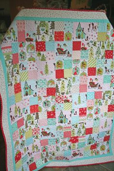 lovely little handmades: the patchwork christmas quilt~ all done!!
