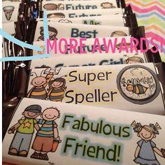 inspiration, classroom inspir, candy bar wrappers, candies, eoy award, seusstast classroom, candy bar awards, classroom awards ideas, candi bar