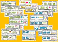 1st Grade Common Core Math Vocabulary Words finally available!