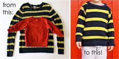 transform dad´s sweaters
