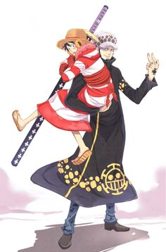 Trafalgar Law x Luffy #lawlu #one piece