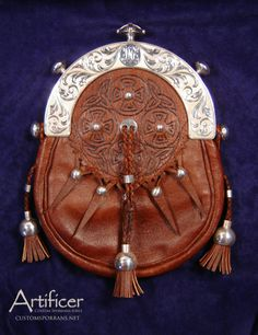 Custom Pigskin bag for Commissioner-Supplied Hallmarked Silver Cantle. #Sporran #Kilt