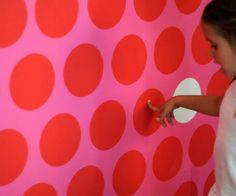 This would be Dottilliscious in a playroom! #popandlolli #pinparty