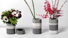 Concrete Vase That Stacks Like A Bento Box... nice!