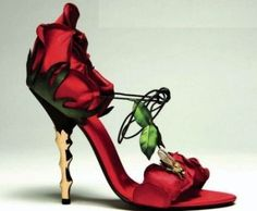 Red rose wedding shoes, make a statement!