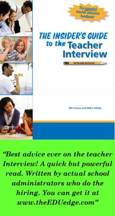 Tired of some college professor or career center giving you hundreds of interview questions to memorize? Real school administrators who do the hiring offer a much better approach in this super helpful book!
