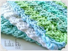 FREE crochet washcloth pattern from LuLu Belle Designs