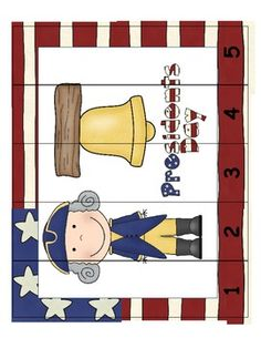 President's Day Common Core Leveled Skip Counting Number Puzzler