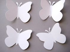 These are fun! I love them! So pretty.    50 Large Wedding White Butterfly punch die by ThePrettyPaperShop, $2.50    #paper #scrapbooking #embellishments #diecut #punch #confetti #wedding #white #butterfly #large #tags #handmade #etsy