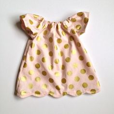 Party Dress Polka Dot Peasant Dress with Scalloped by sallysarah, $35.00
