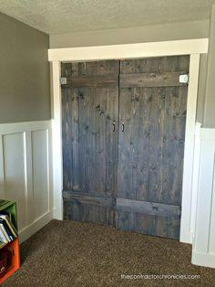Barn Wood Closet Doors - The Contractor Chronicles