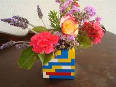Even the kids can make this Lego planter for Mother's Day.