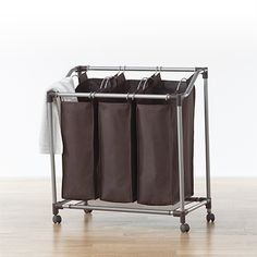 I happen to own this laundry hamper and love it. The ability to presort your laundry really pays off on laundry day.