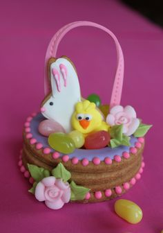 3-D Cookie Easter Basket by Julia M. Usher