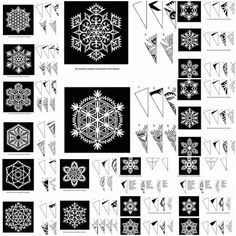 DIY snow flake patterns