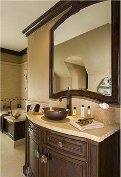 Transitional (Eclectic) Bathroom by Sherry Hayslip